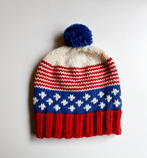 Old Glory Hat | A patriotic, free pattern from alaskaknitnat.com