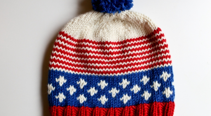 Old Glory Hat A Free Knitting Pattern Alaska Knit Nat