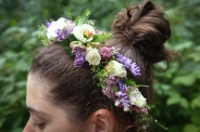 Woodland fairy crown constructed by Natasha of Alaskaknitnat.com