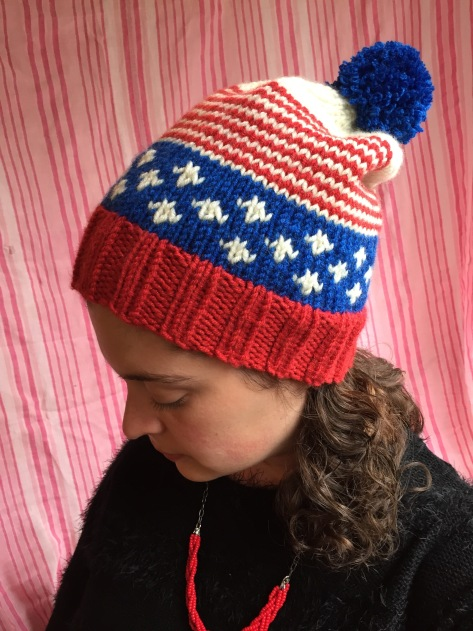 Old Glory Hat | A patriotic, free pattern from alaskaknitnat.com