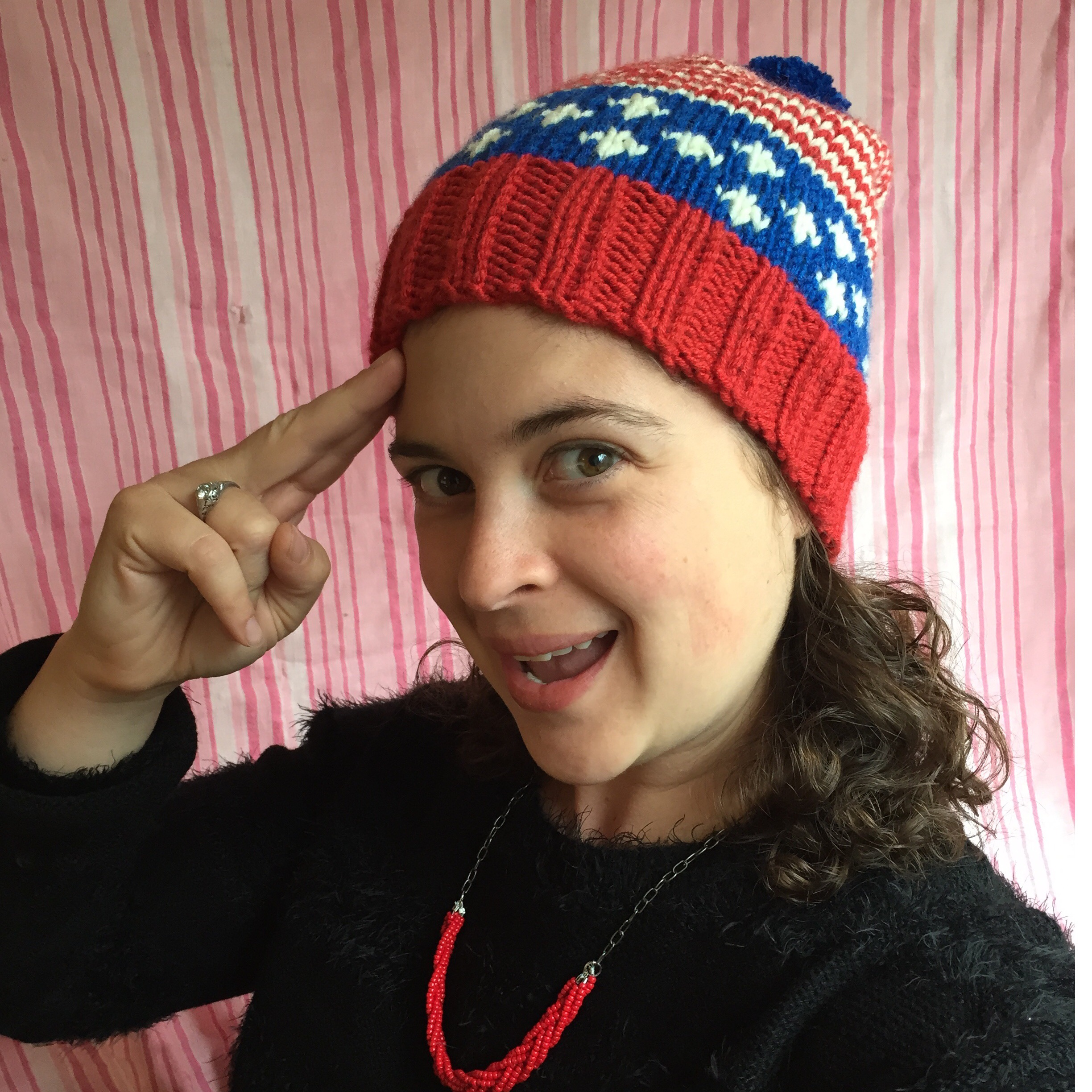 Old Glory Hat — a free knitting pattern | Alaska Knit Nat