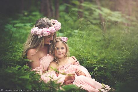 Fresh flower crown made with pink peonies | created by Natasha Price of Alaskaknitnat.com