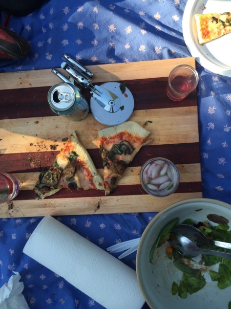 Pizza on the grill | A simple recipe from Alaskaknitnat.com