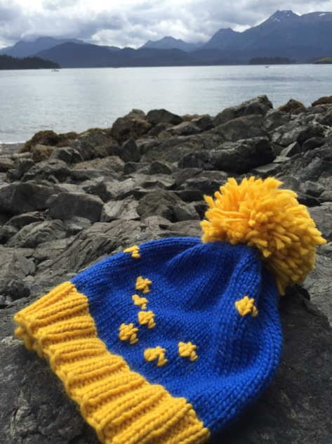 Alaska Flag Hat | A Free Knitting Pattern from Alaskaknitnat.com