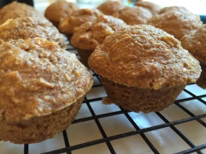 Kid-approved apple apricot mini bran muffins   A healthy back-to-school snack from Alaskaknitnat.com