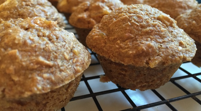 Back to School Recipe: Apple Apricot Bran Mini Muffins