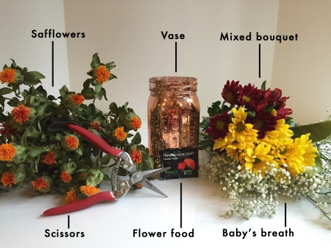 How to arrange grocery store flowers | learn how to make flowers from the grocery store look like a professional arrangement. Tutorial from alaskaknitnat.com