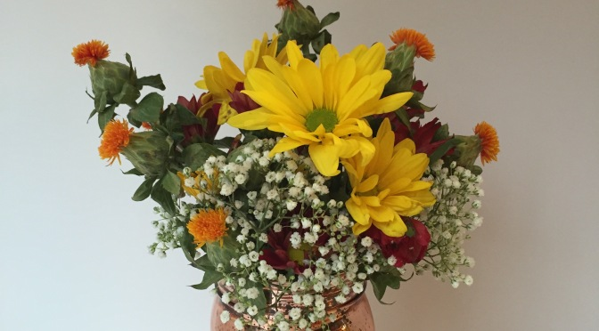 Make a grocery store flower arrangement