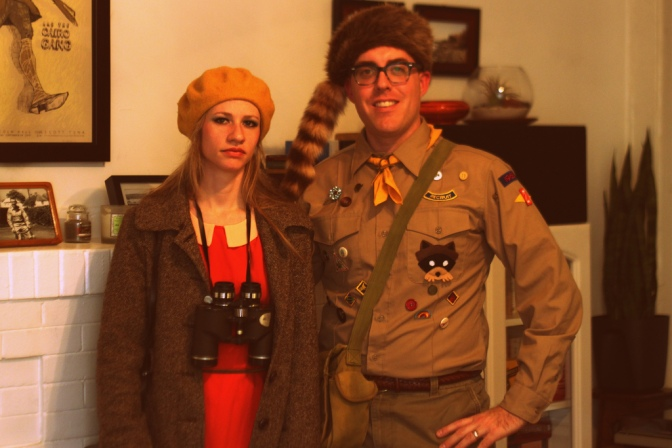 Wes Anderson thrift store costumes