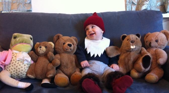 Super quick baby gnome costume