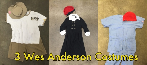DIY Wes Anderson Halloween Costumes | Simple outfits put together at the thrift store; presented by alaskaknitnat.com