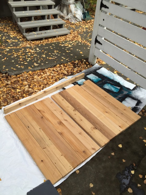 DIY Rustic Headboard | just a few unsanded cedar boards are all you need to easily create your own rustic headboard. Free tutorial from alaskaknitnat.com