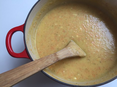 Easy sweet potato carrot soup with sage and cream cheese | A delicious blended soup recipe from Alaskaknitnat.com