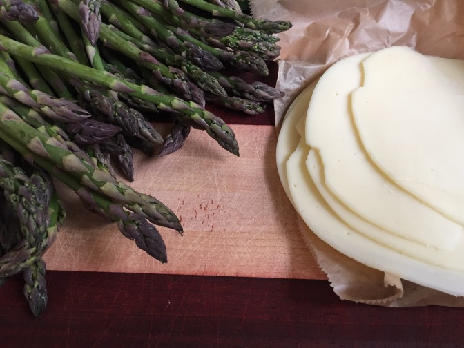 Weeknight chicken scallopini with asparagus