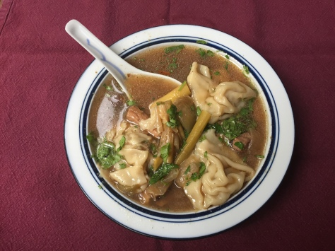 Thai hot pot soup with shrimp & pork wontons | a delicious fusion recipe from Alaskaknitnat.com