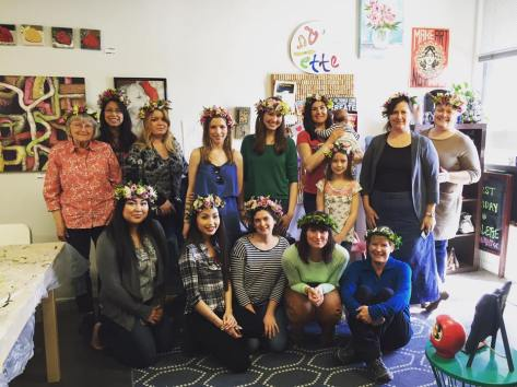 Book a private flower crown workshop with Natasha Price of Alaska Knit Nat!