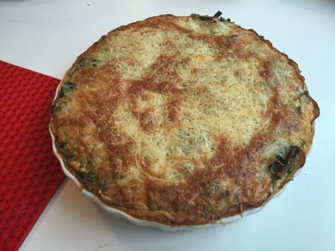 Wild porcini quiche with bacon and spinach | a recipe from Alaskaknitnat.com
