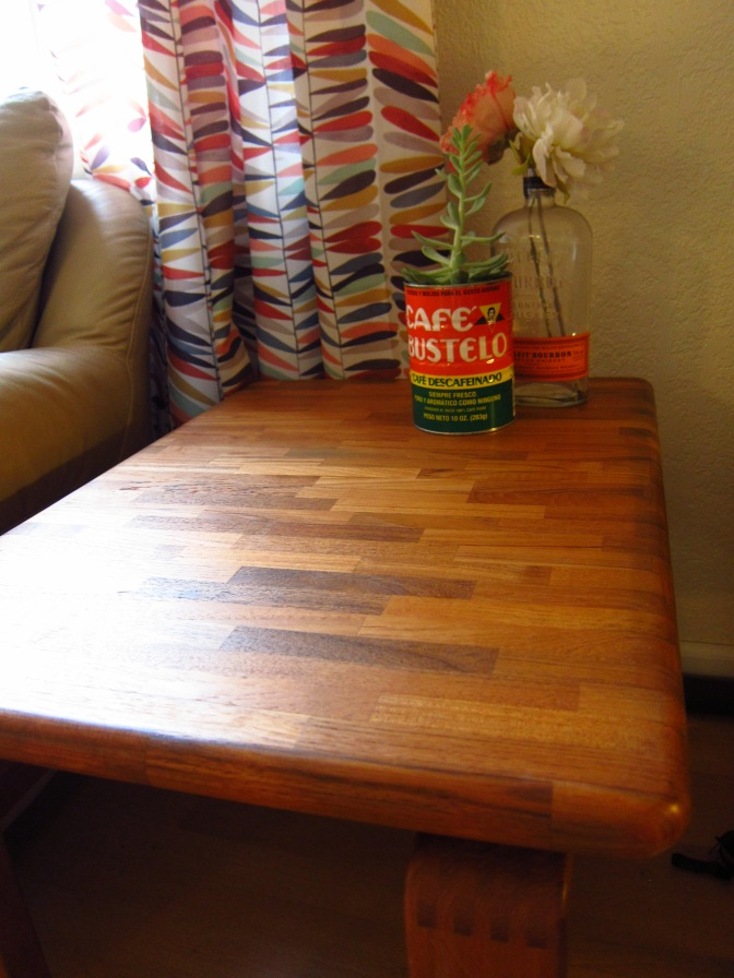Furniture facelift – how to refinish a thrift store table