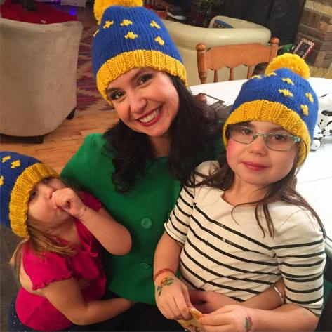 Alaska flag hat - a free pattern for children and adults from Alaskaknitnat.com