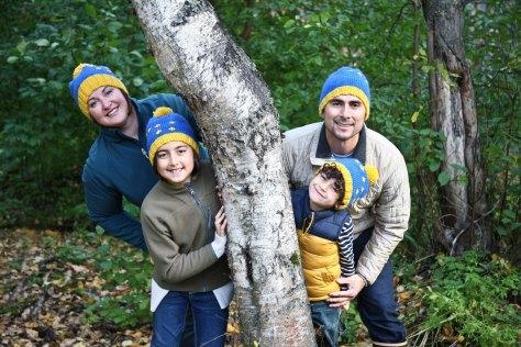 Alaska flag hat - a free pattern for children and adults from Alaskaknitnat.com