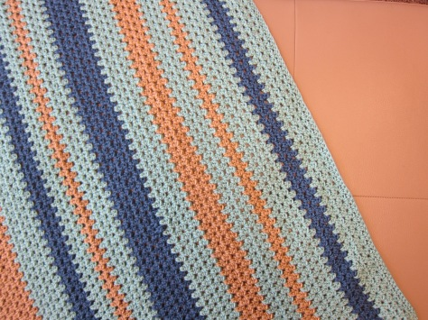 The Oliver Blanket | an easy crocheted baby blanket with vertical stripes | free crochet pattern from Alaskaknitnat.com