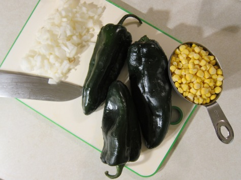 Poblanos with corn and cream | An authentic Mexican dish for breakfast, lunch or dinner | recipe from Alaskaknitnat.com