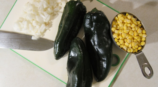 Poblanos with corn and cream