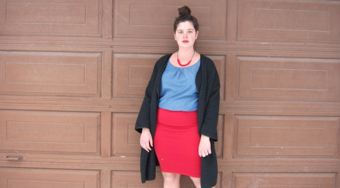 DIY Cassie Skirt - a LuLaRoe sewing hack. Make this cute pencil skirt in under an hour! Pattern from alaskaknitnat.com