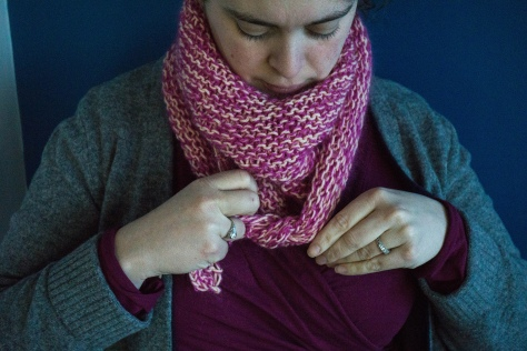 Sherbet Triangle Scarf | a simple knitting pattern from Alaskaknitnat.com