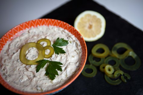 Smoked salmon dip with Barnacle brand kelp pickles | a delicious appetizer that will wow your dinner guests | recipe by Natasha Price of Alaska Knit Nat