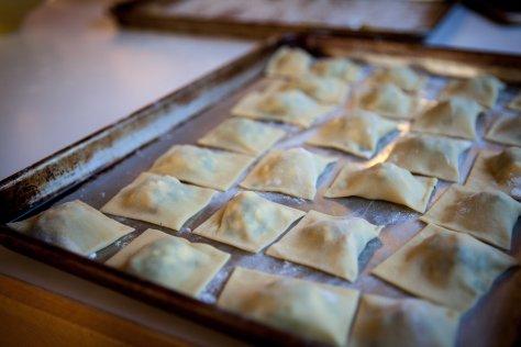 Squash and spinach ravioli | DIY fresh pasta recipe from Alaskaknitnat.com