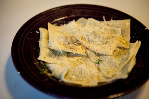 Squash and spinach ravioli | DIY fresh pasta recipe from Alaskaknitnat.com