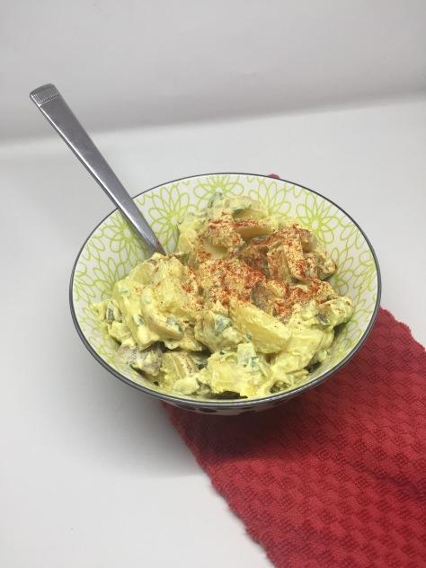 Pickle and potato salad - a perfect potato salad recipe from Alaska Knit Nat