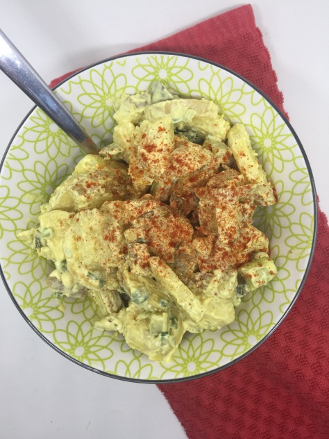Pickle and potato salad - a perfect potato salad recipe from Alaska Knit Nat