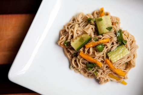 Cold Asian Noodle Salad | A simple weekday lunch from Alaskaknitnat.com