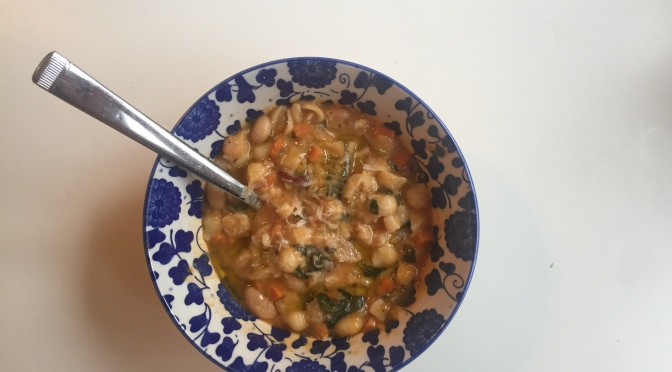 Hearty Italian bean and pasta soup: Pasta e Fagioli