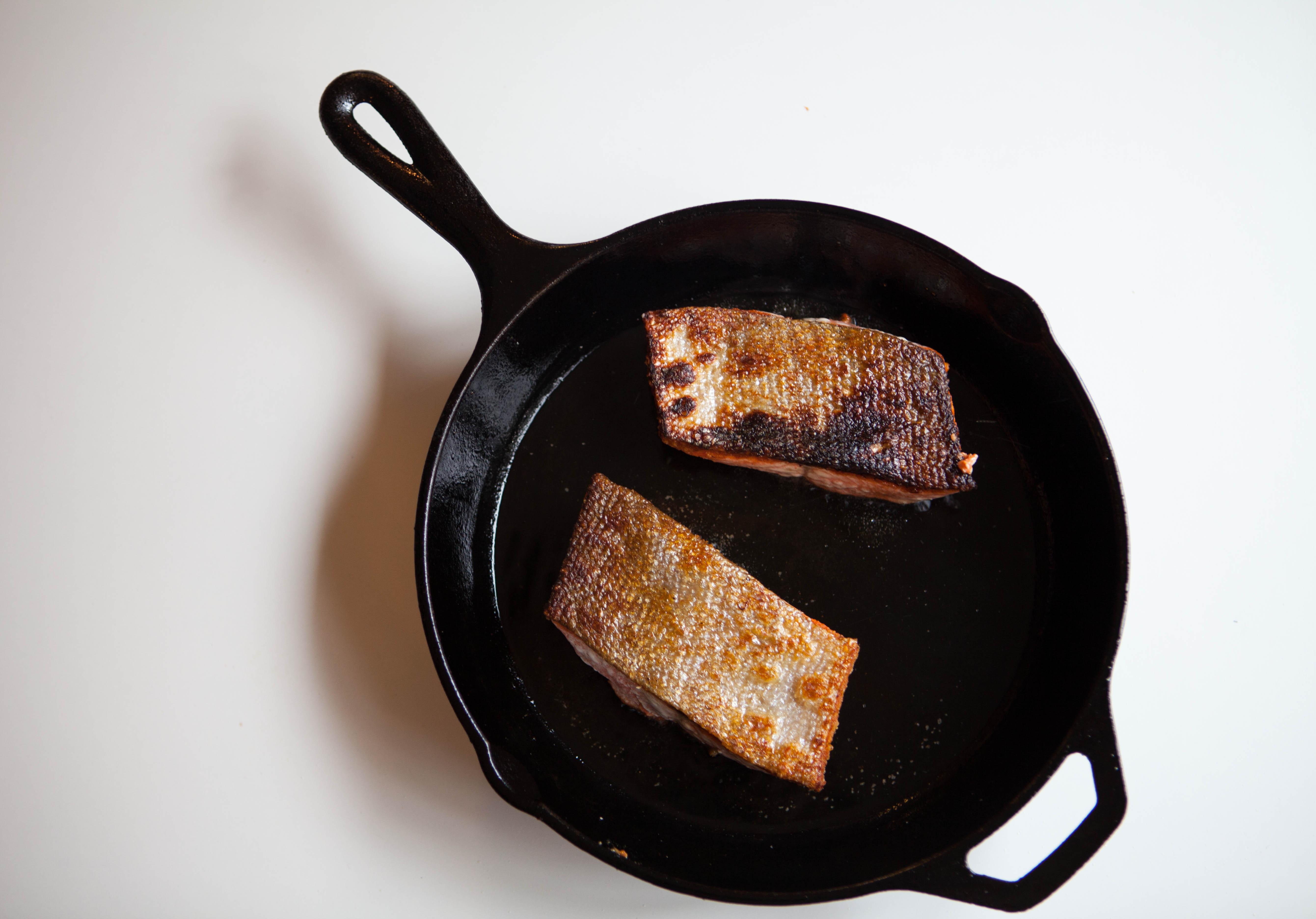 Crispy Skin Salmon | a simple method for cooking wild Alaska salmon from Alaskaknitnat.com