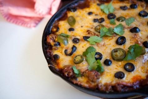 Easy one skillet enchiladas | a recipe from Alaskaknitnat.com