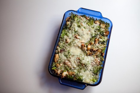 Broccoli Rice Chicken Pesto Casserole | A weeknight meal from Alaskaknitnat.com