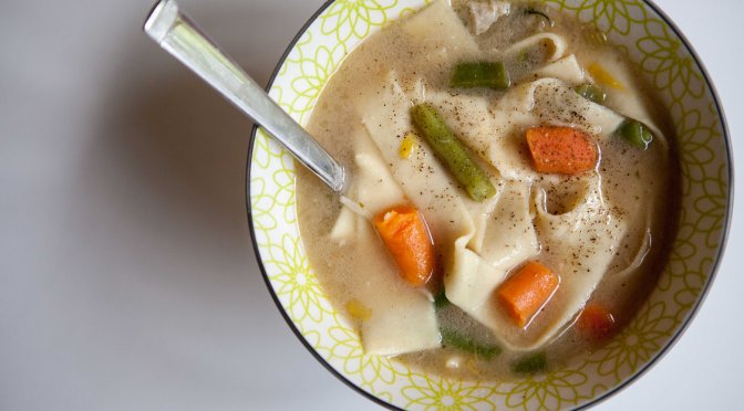 Homemade Chicken Noodle Soup | The Best Chicken Soup Ever from Alaskaknitnat.com