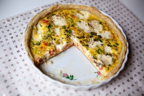Leftover Salmon Quiche - a recipe from Alaskaknitnat.com