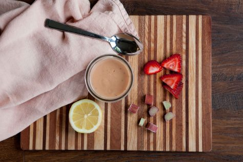 Strawberry Rhubarb Curd || A delightful dessert from Alaska Knit Nat