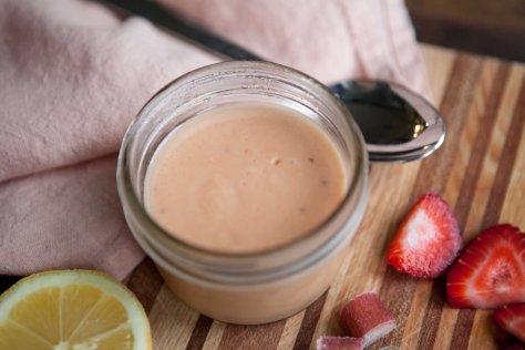 Strawberry Rhubarb Curd || A delightful dessert from Alaska Knit Nat