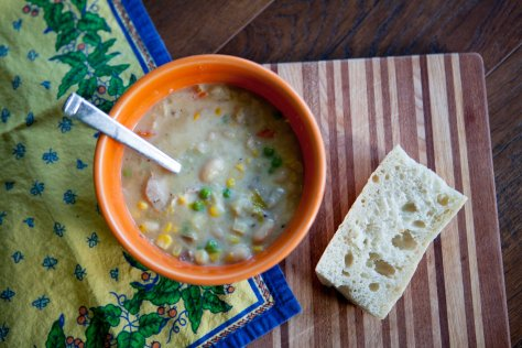 Chicken Pot Pie Chowder || A recipe from Alaska Knit Nat